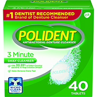 0074031 Polident 3-Minute Tablets, 40/Box, 12 Box/Case, 05306