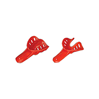 2174023 Excellent-Colors Disposable Impression Trays #1, Child Small Lower, Red, 50/Bag, ITO-1L-50