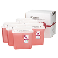 3170736 Sharps Recovery Dental Containers 5 Quart, 6/Box, 3878