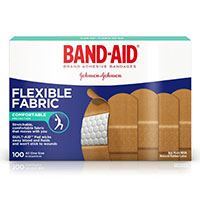 "3252020 Band-Aids Flexible Fabric, 1"" x 3"", 100/Box, 4444"