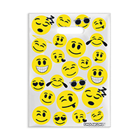 "3310008 Specialty Bags 100 Count Emoji, 7"" x 10"", 100/Pkg."