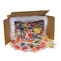 3310034 Sugar Free Lollipops Oval, Assorted, 250/Box