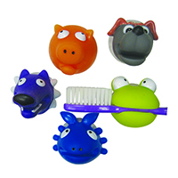 3310036 Animal Suction Toothbrush Holders Toothbrush Holders, Assorted, 36/Pkg.