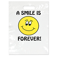 "3310042 Specialty Bags 100 Count A Smile is Forever, 9"" x 13"", 100/Pkg."