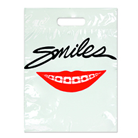 "3310043 Specialty Bags 100 Count Smile with Braces, 9"" x 13"", 100/Pkg."