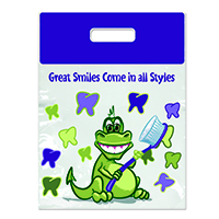 "3310082 Specialty Bags 250 Count Large Gator Great Smiles, 9"" x 13"", 250/Pkg."