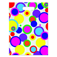 "3310086 Specialty Bags 250 Count Polka Dot Full Color, 9"" x 13"", 250/Pkg."