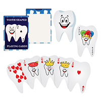 3310138 Playing Cards Tooth Shaped Playing Cards, 24/Pkg.