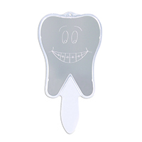 3310143 Tooth Hand Mirror Smile w/Braces Mirror, Each