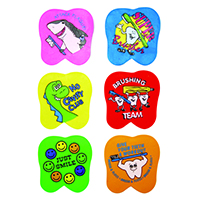 "3310147 Tooth Erasers 1.5"", Assorted Messages Erasers, 72/Pkg."