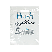 "3310243 Specialty Bags 100 Count Brush, Floss, Smile, 9"" x 13"", 100/Pkg."