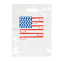 "3310263 Specialty Bags 100 Count American Flag, 7½"" x 9"", 100/Pkg."