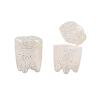 "3310266 Tooth Savers Tooth Shaped, 1.25"", Glitter, 72/Pkg."