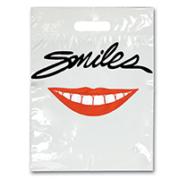 "3310969 Specialty Bags 100 Count Smile, 9"" x 13"", 100/Pkg."