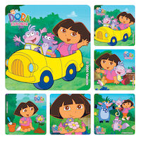 3313211 Assorted Stickers Dora the Explorer, 100/Roll, PS270