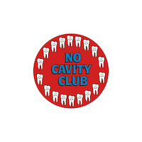 3313229 Assorted Stickers No Cavity Club, 100/Roll, PS1