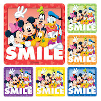3313237 Disney Stickers Gang Smile Stickers, 100/Roll, PS233