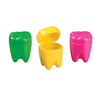 "3314104 Tooth Savers Tooth Shaped, 1.25"", Assorted Colors, 72/Pkg."