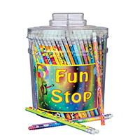 3314110 Pencils Mix Assorted Pencils w/Canister, 288/Canister, VA5