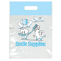 "3314127 Specialty Bags 100 Count Smile Supplies, 7½"" x 9"", 100/Pkg."