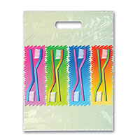 "3314154 Specialty Bags 250 Count Neon Brushes, 9"" x 13"", 250/Pkg."