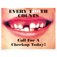 3315035 Every Tooth Counts Postcard Checkup Postcards, 250/Pkg., RC8021