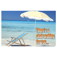 3315082 There's a Chair Waiting for You Postcard Beach Chair Postcard, 250/Pkg., RC3632