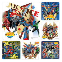 3315268 Assorted Stickers Justice League, 100/Roll, PS552
