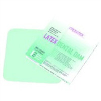 "3410382 Rubber Dams 5"" x 5"", Medium, Green, Mint Flavored, 52/Box, 19200"