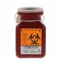3976137 Sharps Containers 0.7 Quart, Non-Stackable, 40/Case, 185S