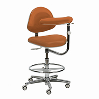 4404117 Generation Stools Assistant Stool w/Back and Body Support, Ultra Leather, 3554-201U