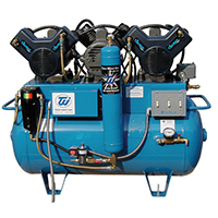 4455030 Ultra Clean Oil-less Air Compressors Triple Head, 6 User, 230 volt, ACO6T2