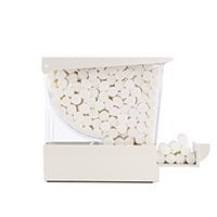 4952208 Monoart Cotton Rolls Dispenser White, Dispenser, 227002