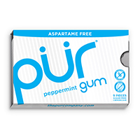 4952822 PUR Gum and Mints Gum, Peppermint, 9 Pieces/Pk, 12 Pk/Case, 148831