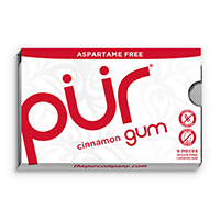 4952825 PUR Gum and Mints Gum, Cinnamon, 9 Pieces/Pk, 12 Pk/Case, 118800