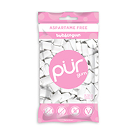 4952834 PUR Gum and Mints Gum, Bubblegum, 55 Pieces/Bag, 12 Bag/Case, 187201