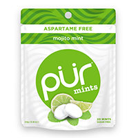 4952837 PUR Gum and Mints Mints, Mojito Lime, 20 Pieces/Pk, 20 Pk/Case, 279929