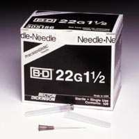 "5038200 BD Regular Bevel Needles 22 Ga, 1.5"", 100/Box, 305156"