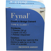 8131300 Fynal Permanent Zoe Cement Complete Package, 609001