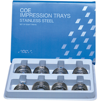 8191162 Coe Stainless Steel Perforated Regular Impression Trays S3, Upper, Regular, 264031