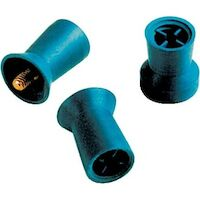 8242142 Densco Prophy Cups RA Latch, Soft Blue Rubber w/ Skirt, Rib, Recessed Webs, 144/Box, 85232-144