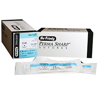 "8433310 Perma Sharp, Black Silk 3-0, C-43, 18"", 12/Box, PSN7762S"