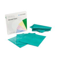 "8440676 Hygenic Dental Dam 5"" x 5"", Extra Heavy, Green, 52/Box, H02144"
