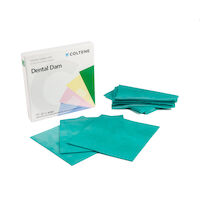 "8440686 Hygenic Dental Dam 6"" x 6"", Extra Heavy, Green, 36/Box, HO2149"