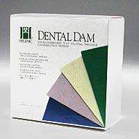 "8441651 Hygenic Dental Dam 5"" x 5"", Thin, Light, 364/Box, H04236"