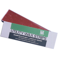 "8442155 Utility Wax Round Strips, White, 11"", 80/Box, H00818"