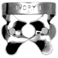 8492702 Ivory Rubber Dam Clamps, Wingless W1, General Purpose Upper, 57506