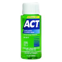 8520402 ACT Fluoride Rinse, Alcohol-Free, Mint, 1 oz., 48/Box, 9420