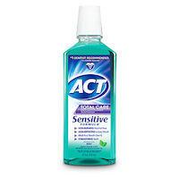 8520440 ACT Total Care Sensitive, Alcohol Free, Mild Mint, 18 oz., 6/Box, 9641