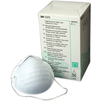 8670802 Triple Layer Molded Face Mask Regular Size, White Strap, 50/Box, 2042F